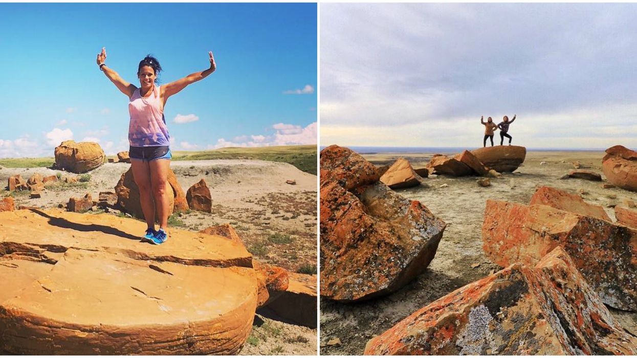 Alberta's Red Rock Coulee Is A Surreal Landscape Like The Surface Of Mars