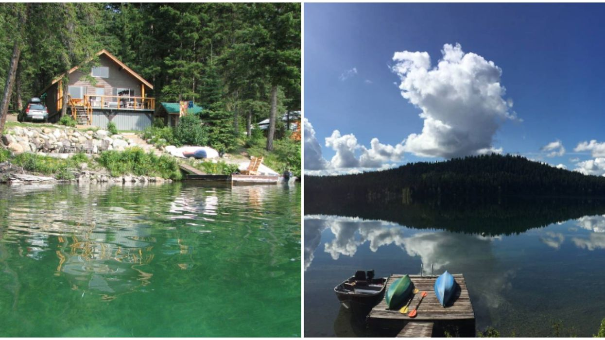 Cabin For Sale In BC Is On An Emerald Green Lake & Costs Just $389K
