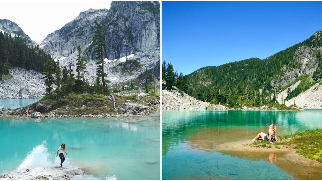 Lake Near Vancouver Has Crystal-Clear Waters & It's An Epic Hike Away