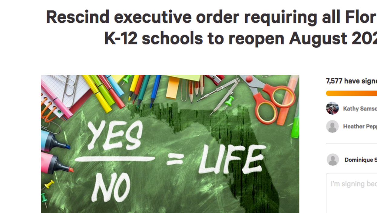 Florida Teachers Start Petition To Reverse School Reopening Decision