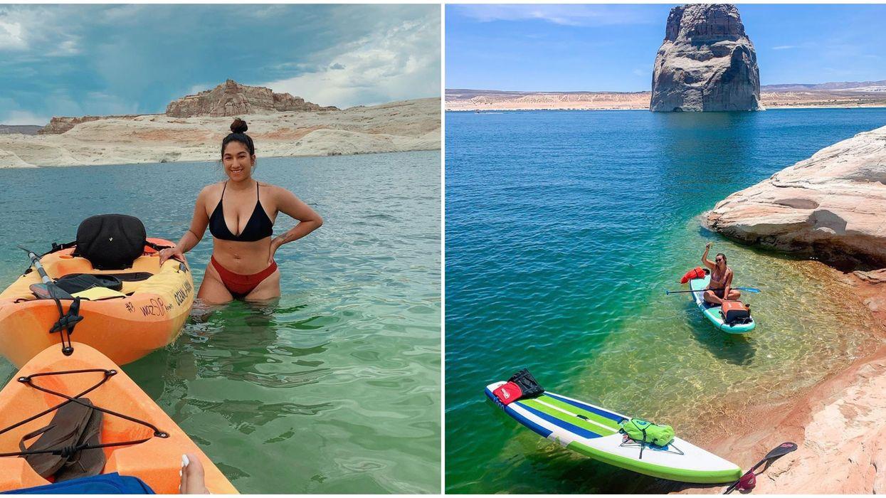 Lake Powell In Arizona Has Beautiful Emerald Water You Can Explore On A Kayak Tour