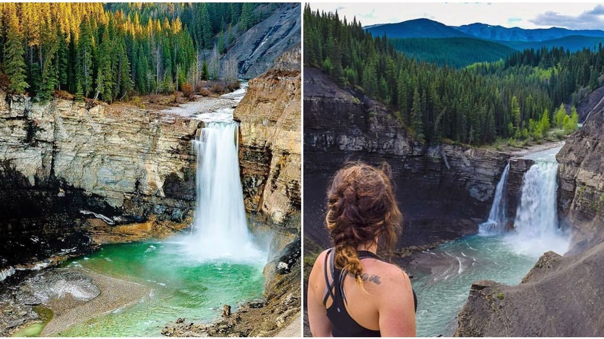 Ram Falls Has The Most Jaw-Dropping Waterfall In Alberta & It's So Easy To Get To