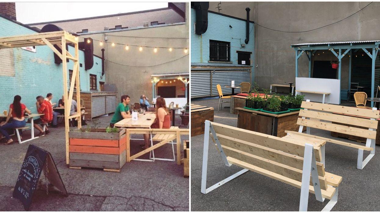 Ce bar de Montréal transforme son stationnement en adorable terrasse