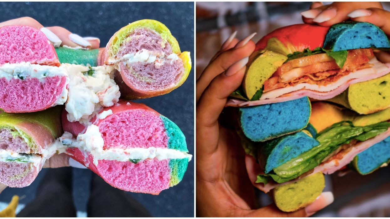 101 Bagel Cafe Eatery In Atlanta Has Magical Rainbow Bagels You Can Indulge In