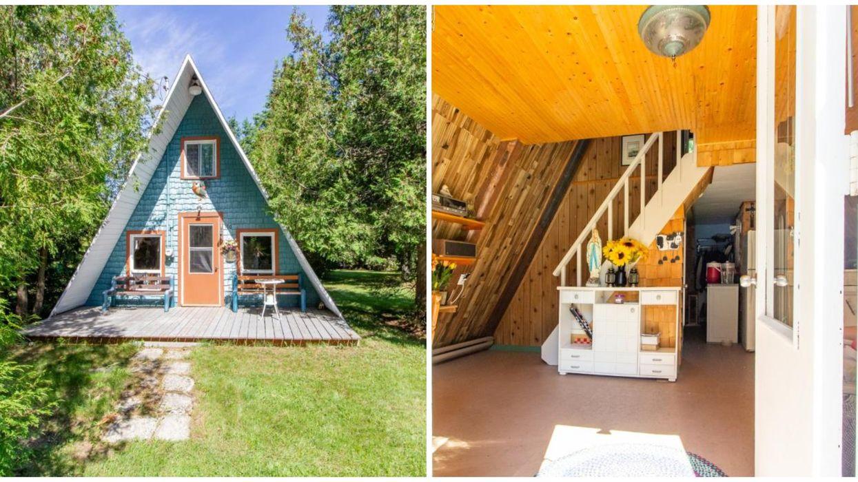 Ce chalet style «tiny house» à Lac-Etchemin est en vente pour moins de 50000$