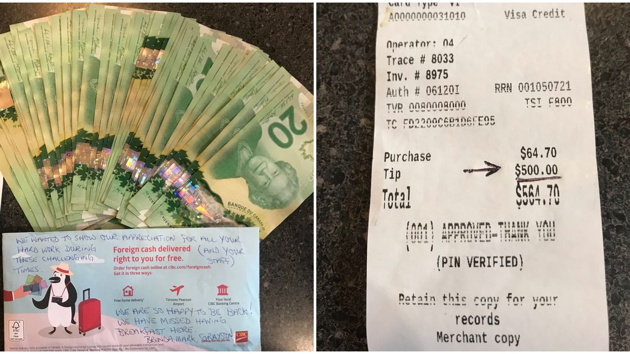 Wellington Diner In Ottawa Gets $1500 In Tips From Generous Returning Customer