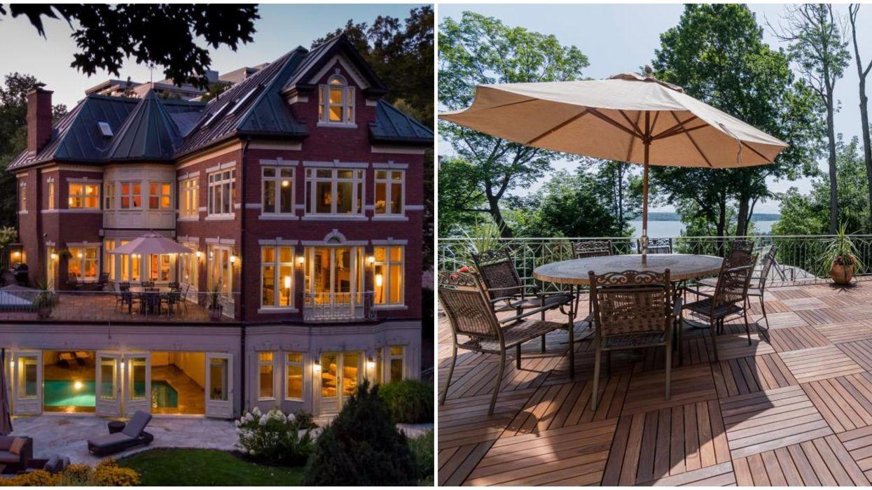 Québec : Maison de luxe à 2,6M$ a vendre avec deux terrasses magnifiques