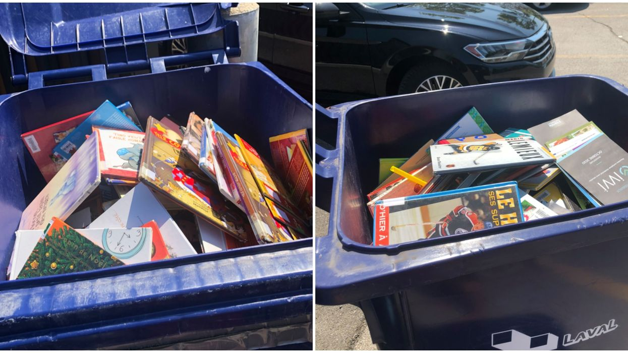 Des Lavallois trouvent des dizaines de livres jetés au recyclage à cette bibliothèque