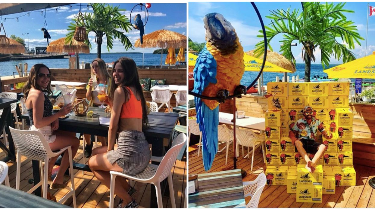 Ontario's Tropical Patio Will Make You Feel Like You're Dining At A Beach Resort