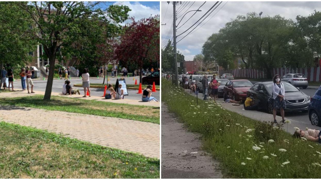 COVID-19 : Les files d'attente à Montréal sont tellement longues que les gens rebroussent chemin