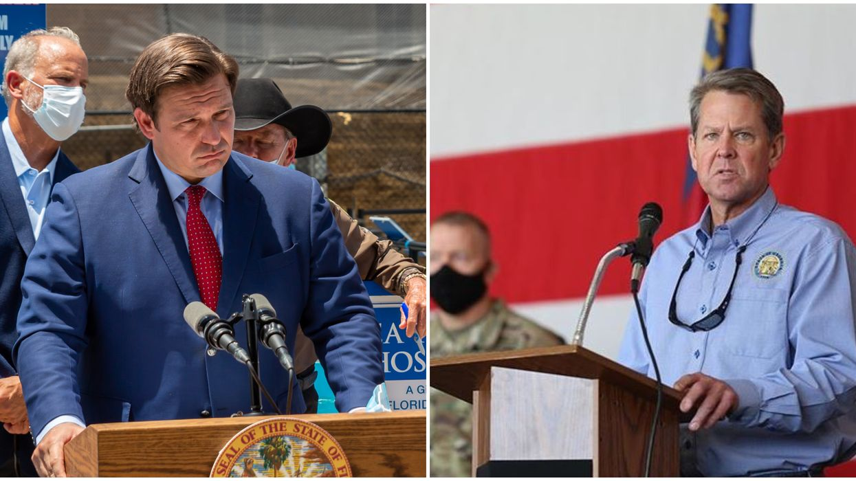 Florida Governor Ron DeSantis #DeathSantis And Brian Kemp Are Trending For Who Is Worse