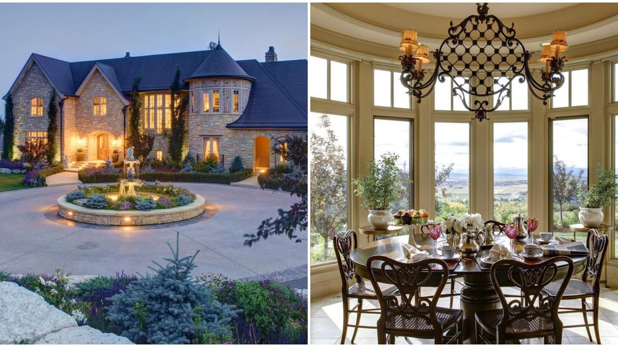 This $9M Castle For Sale Makes Alberta Look Like The South Of France (PHOTOS)