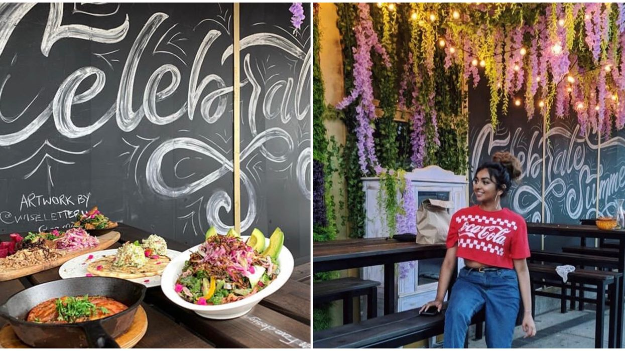 Maro's Bistro Near Toronto Has The Most Colourful Dishes & A Magical Floral Patio