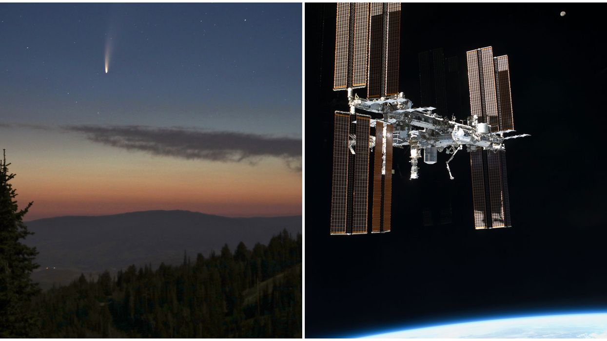 Comet NEOWISE/International Space Station Double Feature Lights Up Canada's Skies Tonight