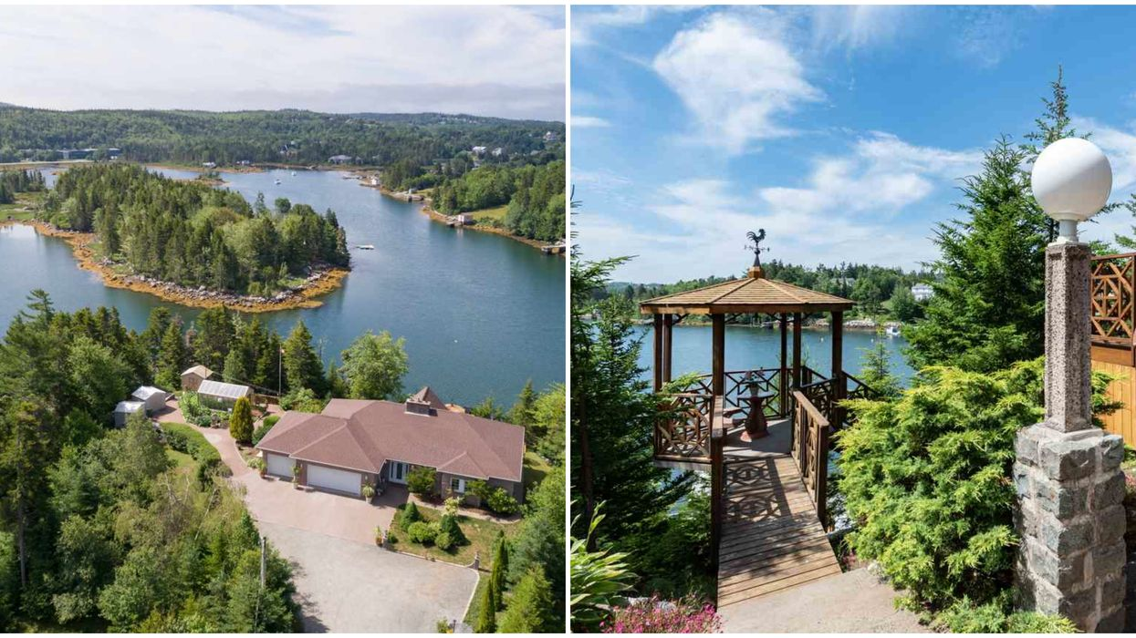 House For Sale In Nova Scotia Has A Greenhouse & Huge Outdoor Pizza Oven Right On The Ocean