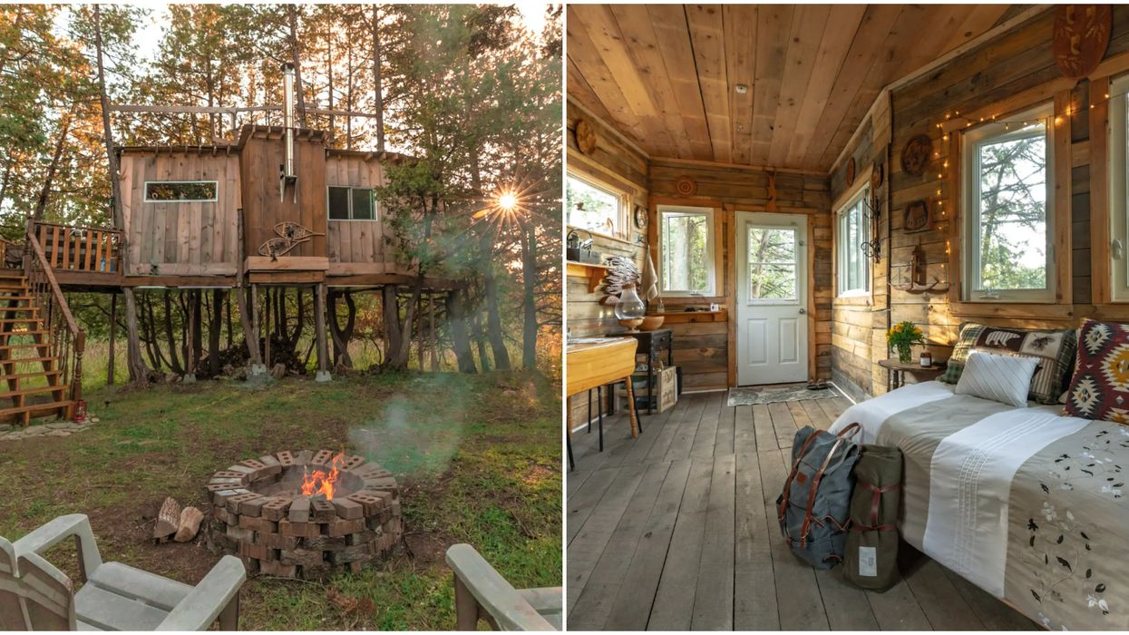 A Treehouse Airbnb In Ontario Is The Coziest Way To Go Totally Off-Grid