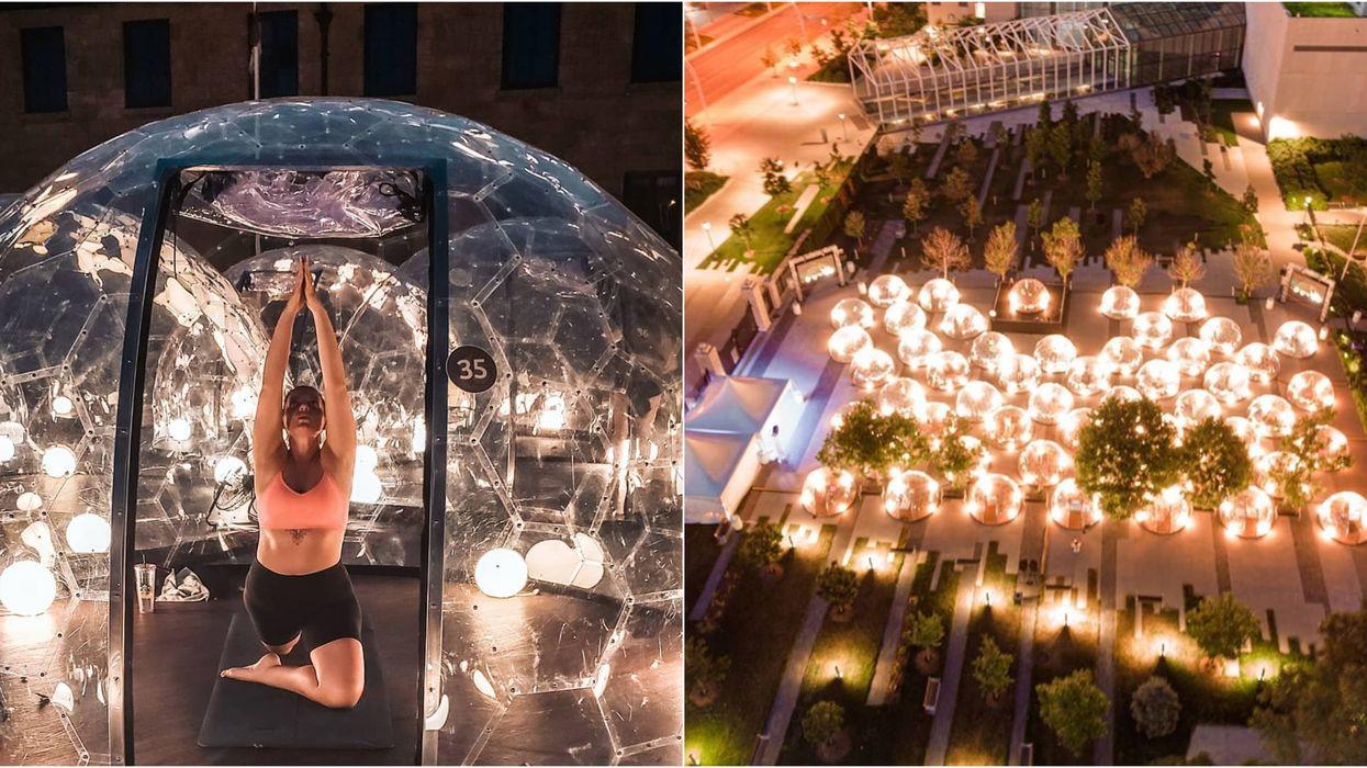 Tu peux faire du yoga chaud dans une bulle à 5 h de Montréal et c'est 100% «goal »