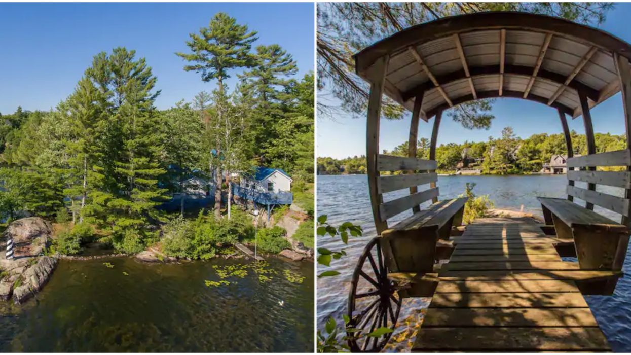 This Ontario Airbnb's Floating Carriage & Lighthouse Give Off Major Fairytale Vibes
