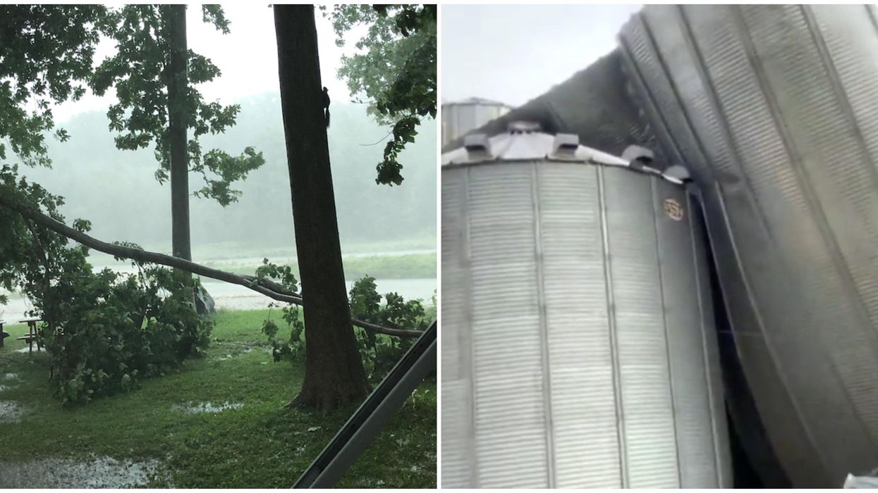 Storm In Ontario On Sunday Caused Flash Flooding & Crushed Houses (PHOTOS)