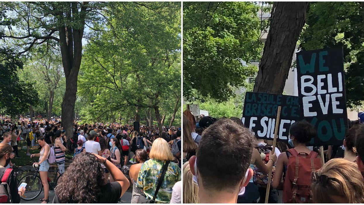Des centaines de manifestants contre les abus sexuels ce dimanche à Montréal (PHOTOS)
