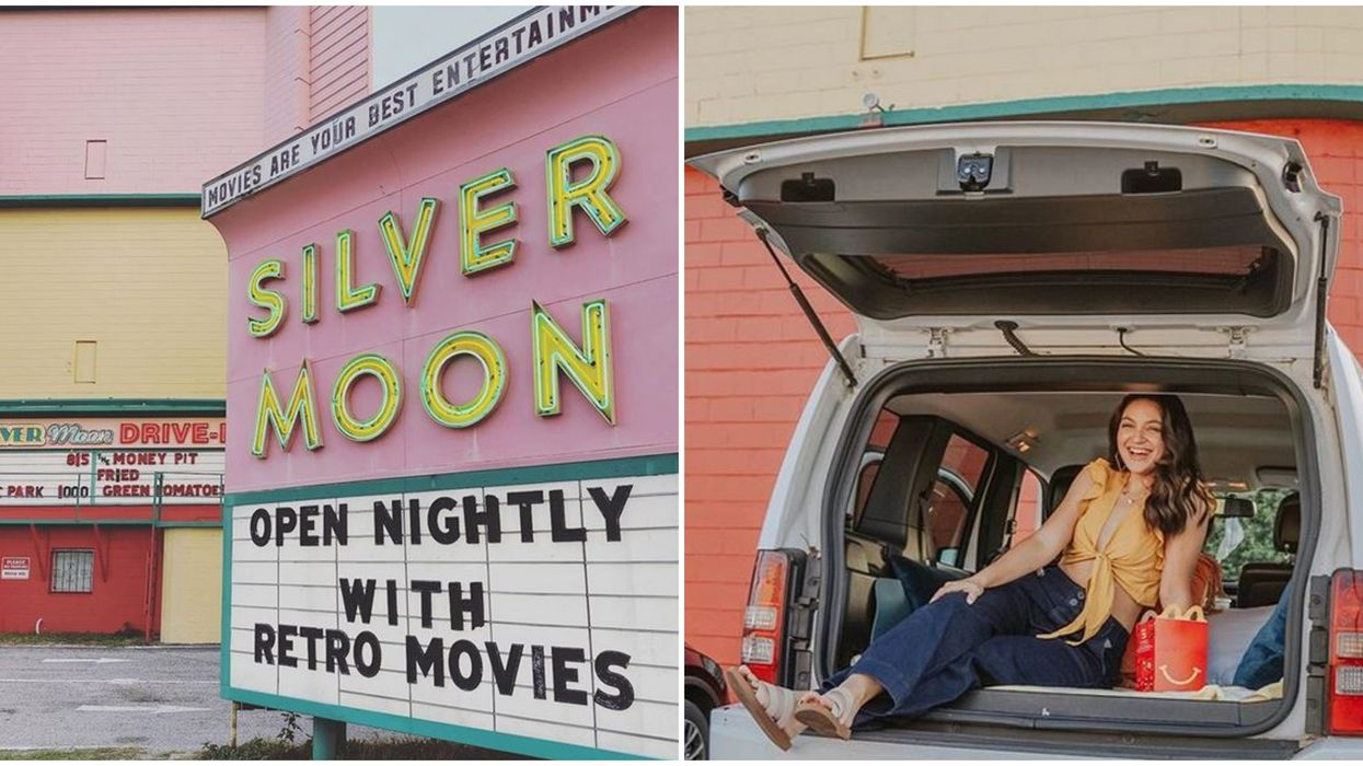 Silver Moon Drive-In Theater In Florida Show Feel Good Double Features For $6 This Month