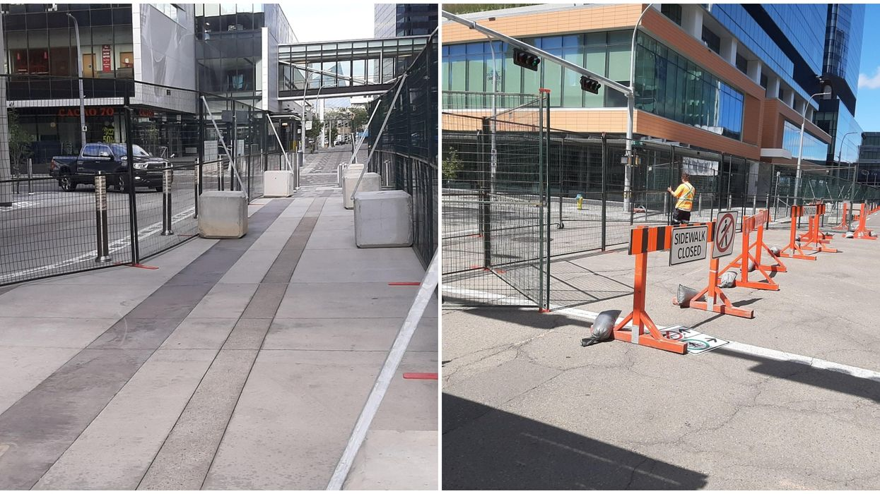The 'NHL Bubble' Is Taking Over Downtown Edmonton & Shutting Out Locals (PHOTOS)