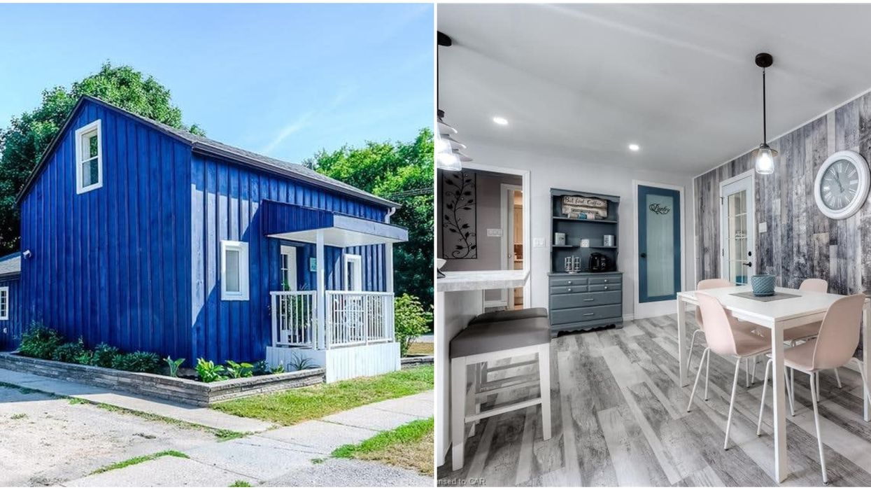 A House For Sale Near Toronto Is Bluer Than The Ocean And Totally Stunning Inside Too