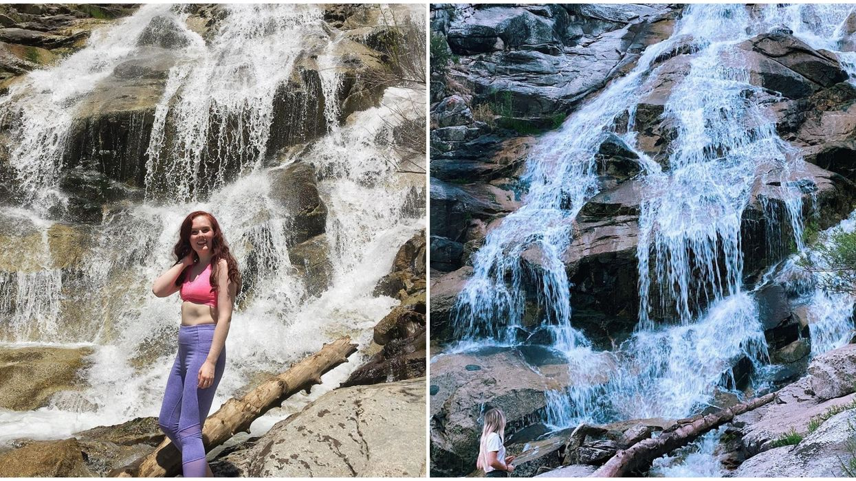 Horsetail Falls In Utah Is A Dreamy Waterfall On The Tippy Top Of A Mountain