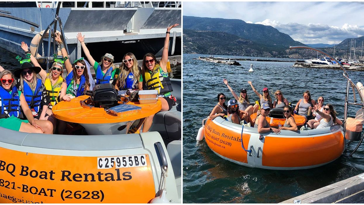 BBQ Boats In Kelowna Are The Ultimate Party On The Water This Summer