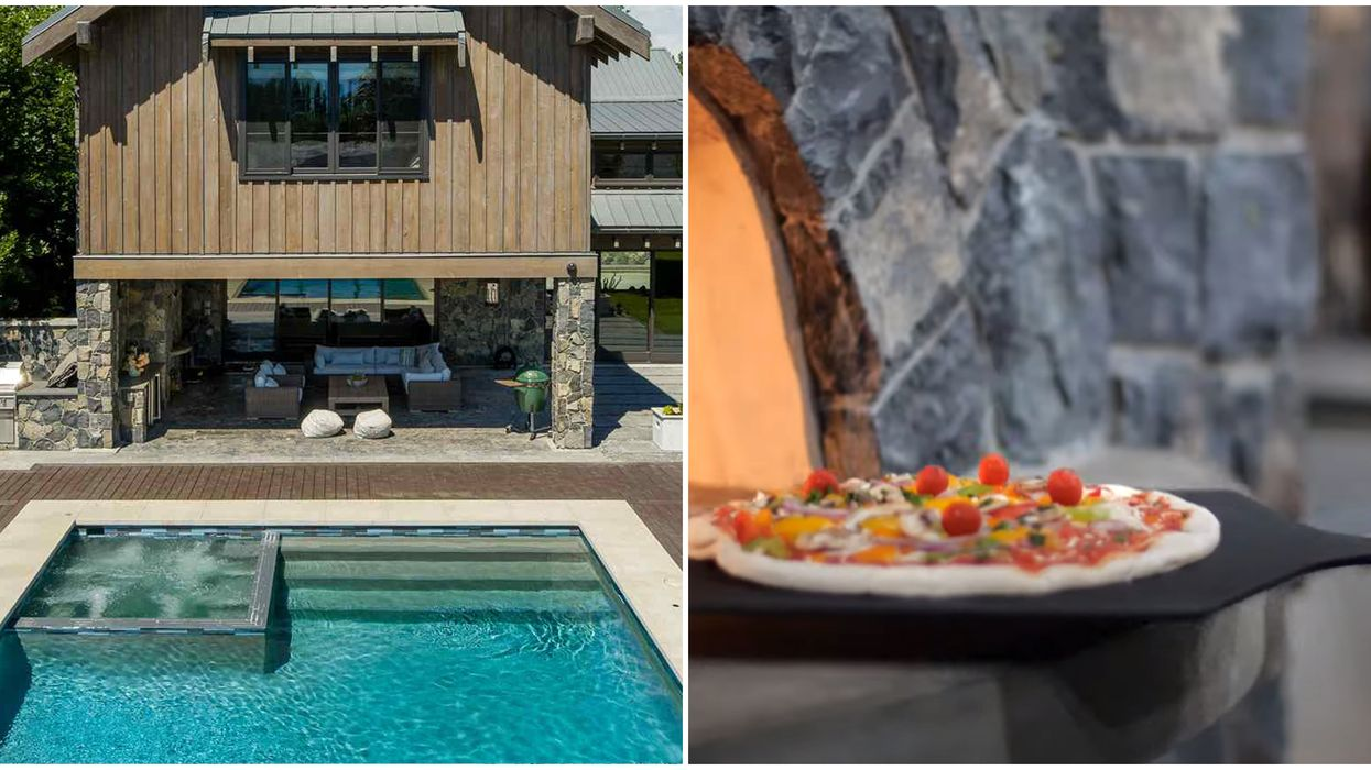 Vancouver House For Sale With A Pool & Pizza Oven Is Made For Summer Parties