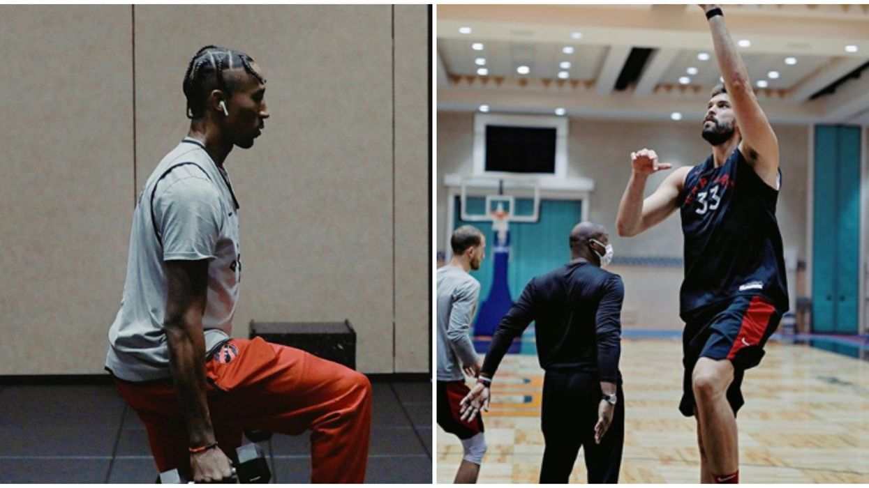 Raptors Post Intense Practice Photos Ahead Of Their First Game Tomorrow