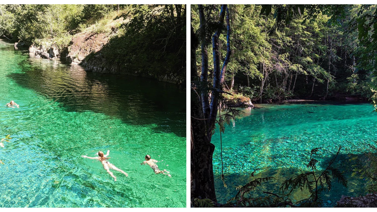 This Emerald Green River Is Hidden Off The Highway In BC & No One Knows About It