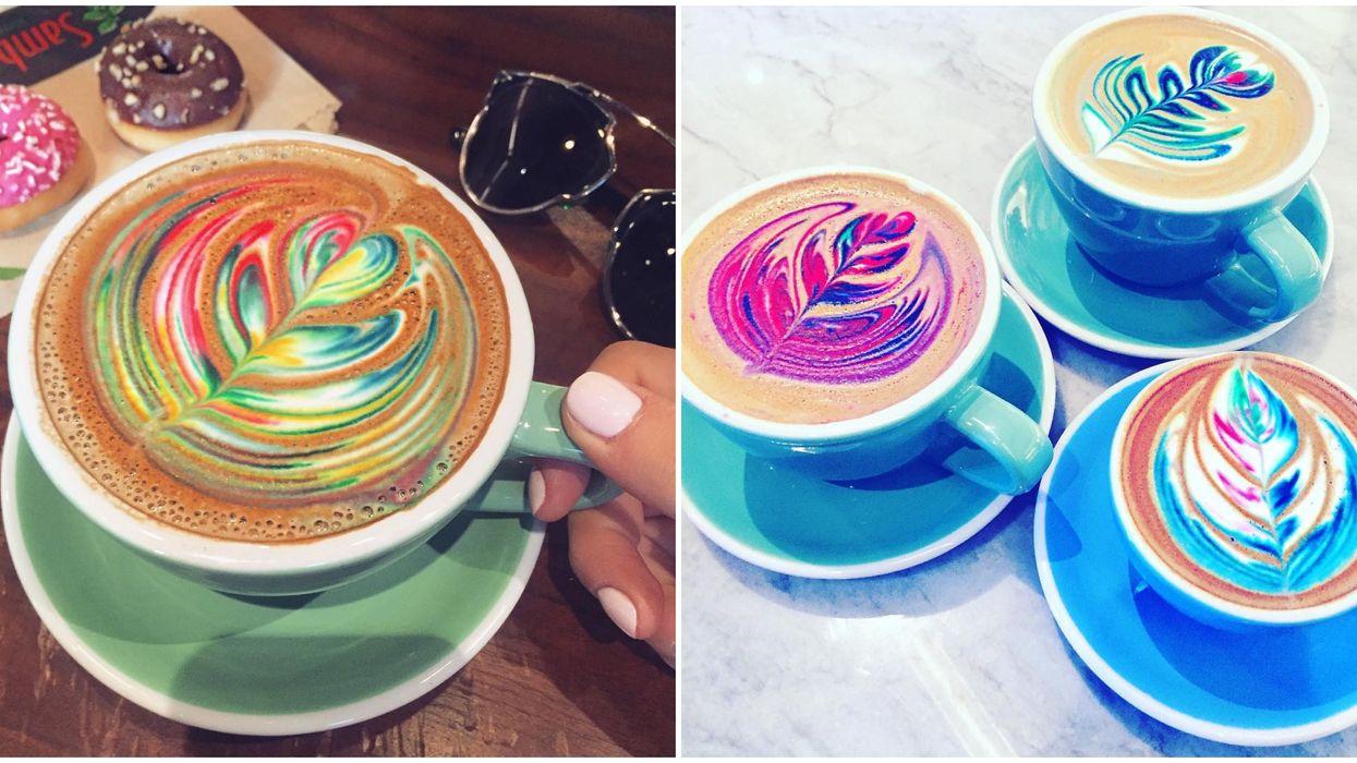 Sambalatte In Las Vegas Serves Up Rainbow Lattes That Look As Good As They Taste