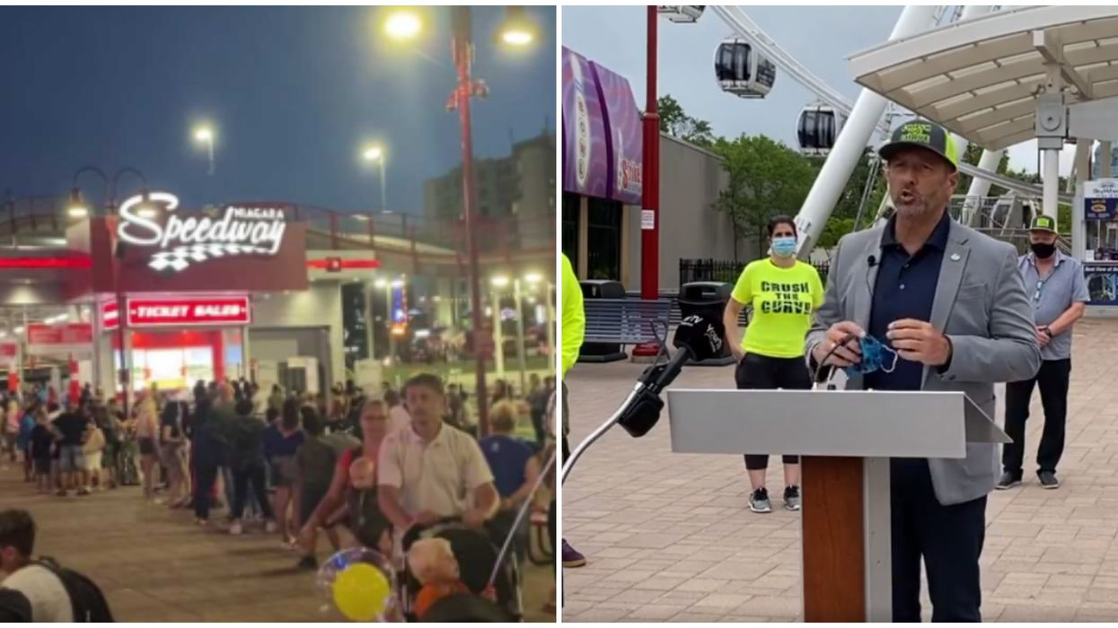 Niagara's Clifton Hill Now Has Ambassadors Armed With Sanitizer To Curb Crowds
