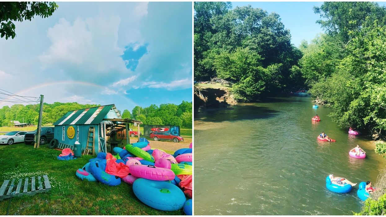 Georgia River Tubing Groupon Deal Cartecay River Experience Saves You And Boo Cash