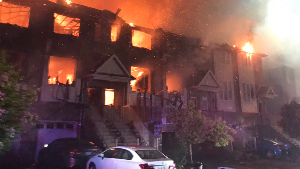 An Entire Townhouse Complex Is Up In Flames In Ontario Right Now (PHOTOS)