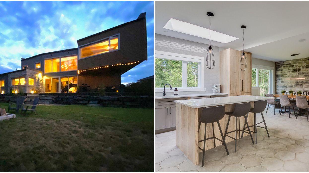 Maison en Estrie aux allures futuristes parfaite pour le minimaliste en toi