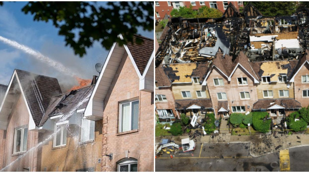 A Richmond Hill Fire Devastated Houses In The Second Huge GTHA Blaze In 24 Hours