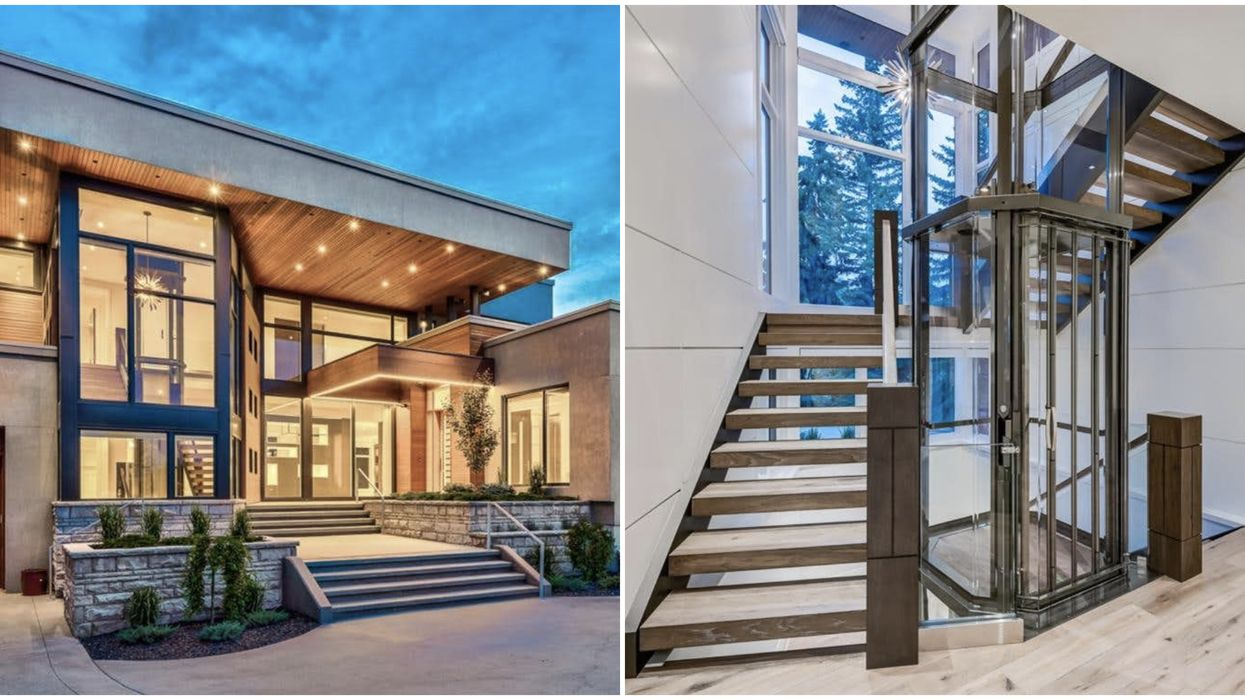 Calgary Mansion Straight Out Of 'Willy Wonka' Comes With A Full Glass Elevator