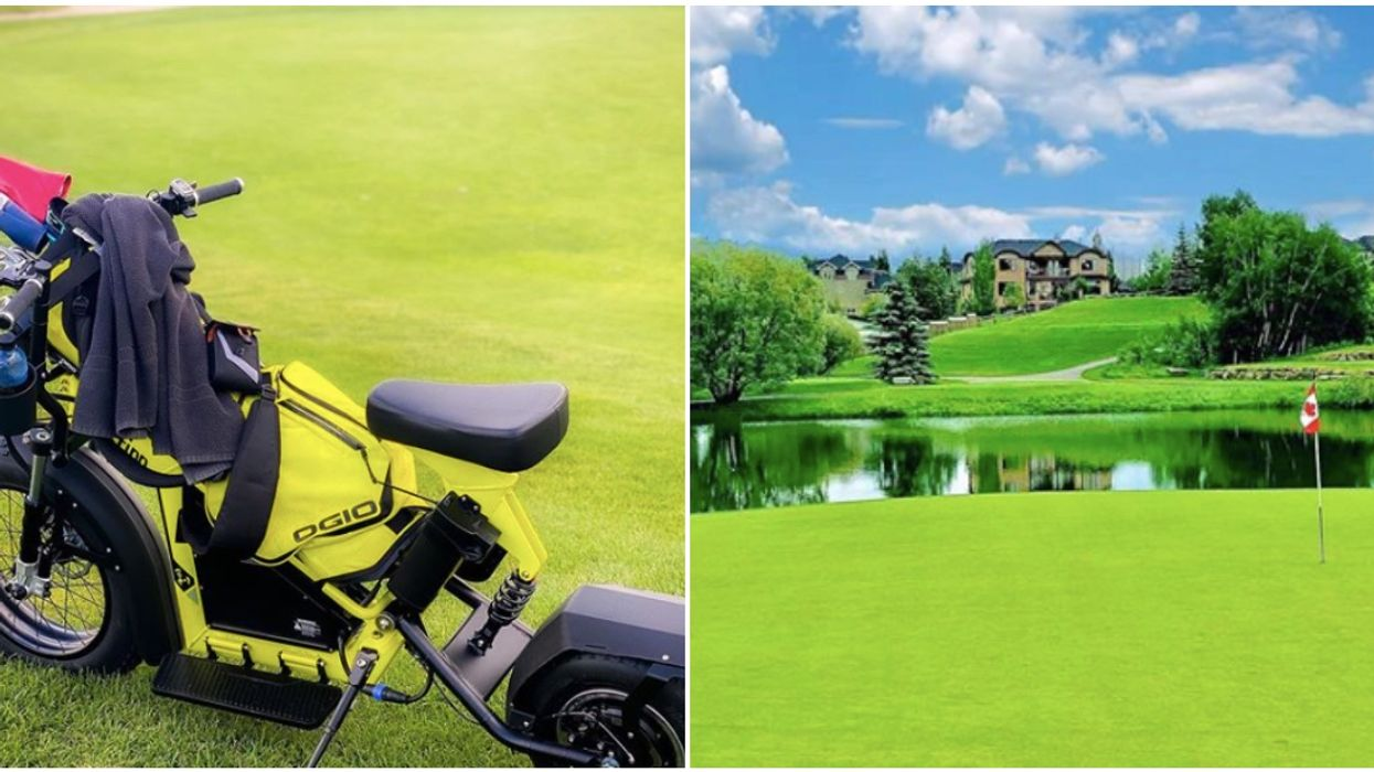 One-Person Golf Carts Are A Thing And They Are Now At A Course In Alberta