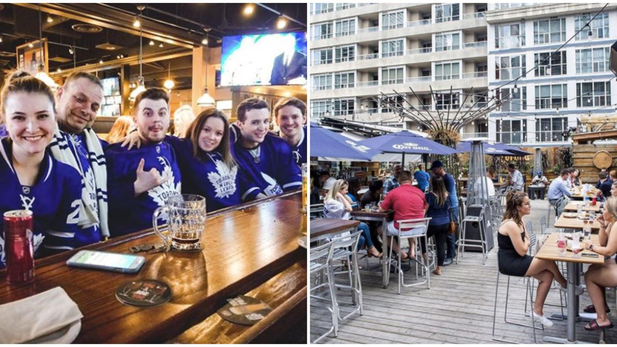 Toronto Patios With TVs Where You Can Finally Watch Raptors & Leafs Games Again