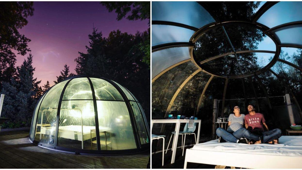 RécréoParc : Tu peux dormir dans cette bulle à seulement 20 minutes de Montréal