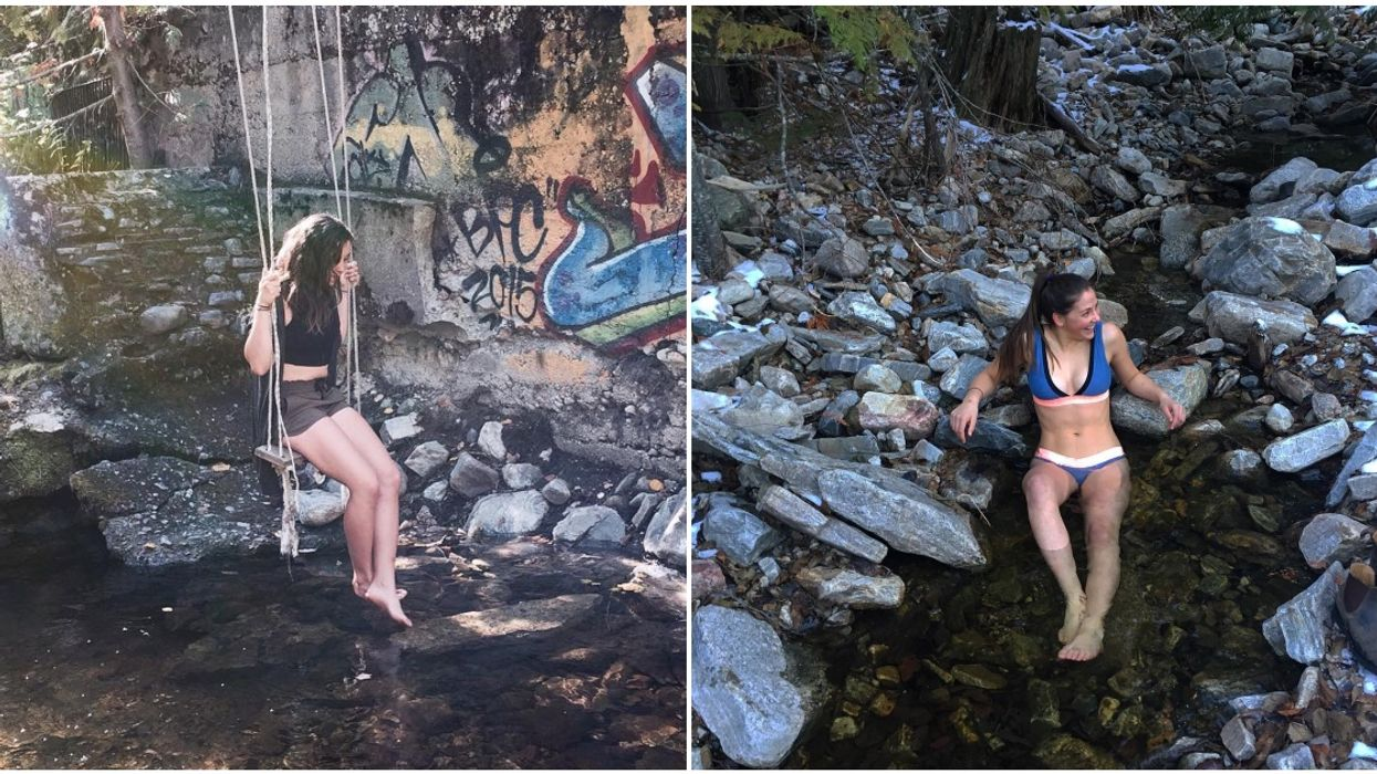 Angel Springs Is A Dreamy 'Warm Spring' In BC That Has A Rope Swing