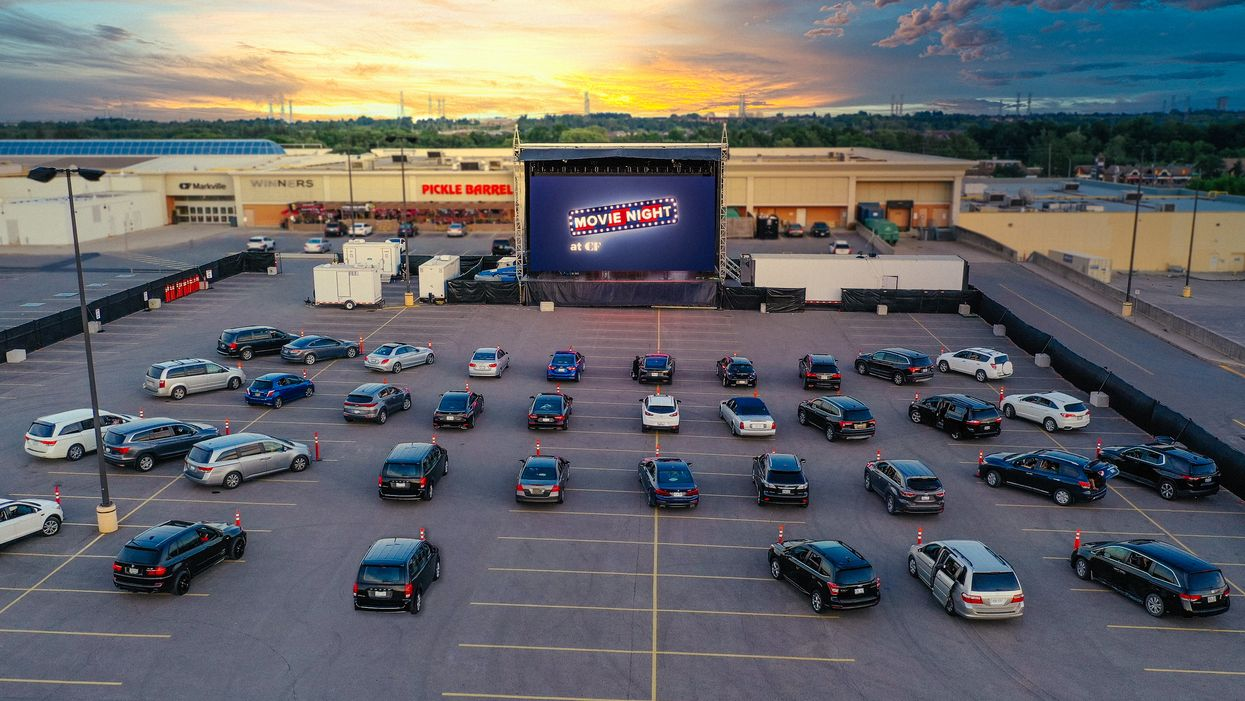 Toronto's Sherway Gardens Drive-In Lets You Watch Movies In The Parking Lot