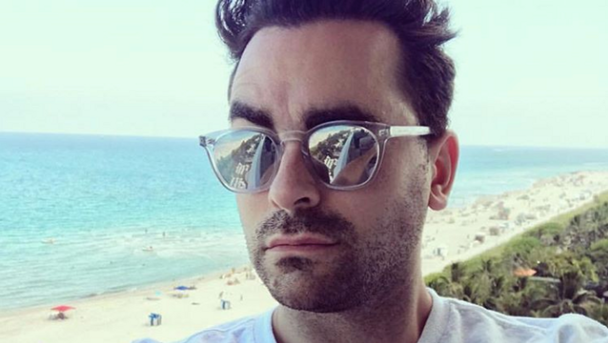 Dan Levy Is Back In Canada & Shows Off His Tim Hortons Order (PHOTO)