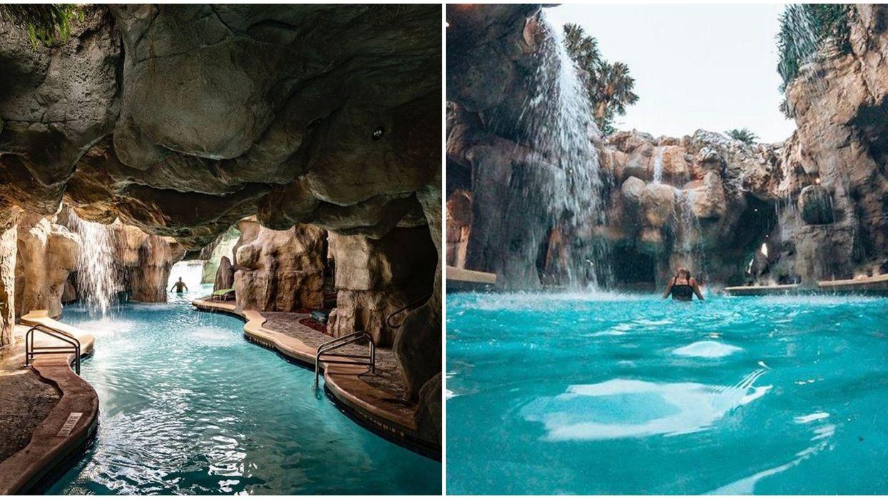 Hyatt Regency Hotel Pool In Florida Is Like A Magical Mermaid Grotto With Rocky Waterfalls