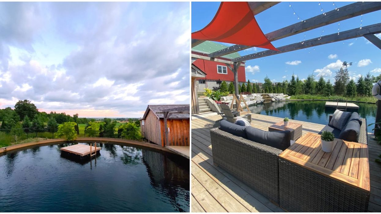 A Gorgeous Ontario Airbnb Has A Stunning Open-Air Backyard Swimming Pond