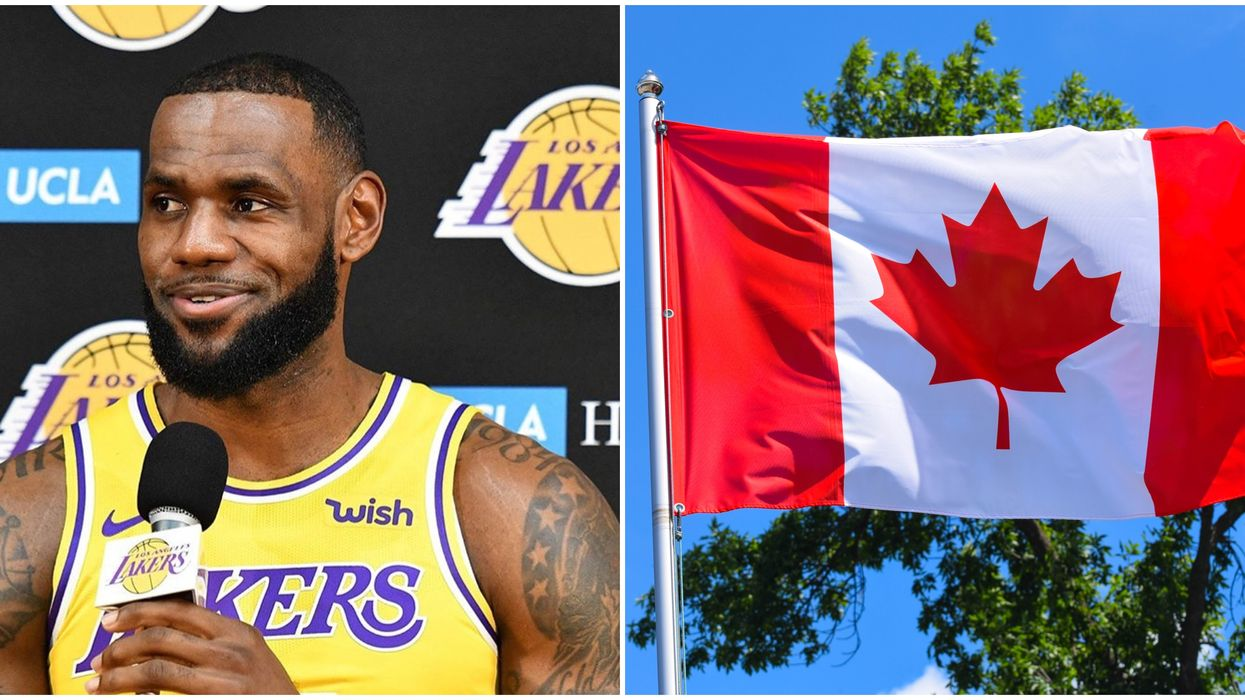 LeBron James Looks Like He Knows Almost All The Words To 'O Canada'