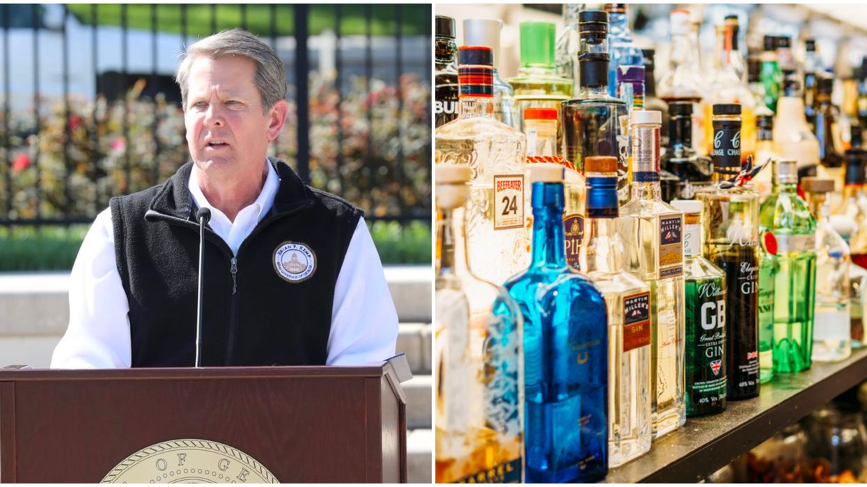 Governor Of Georgia Brian Kemp Signed An Order Allowing Alcohol Deliveries To Your Door