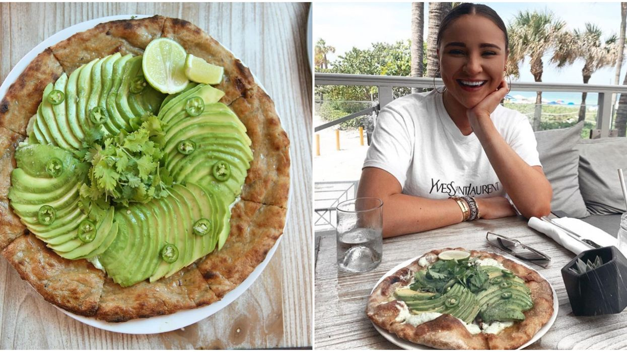 You Can Eat An Avocado Pizza & Watch Waves Roll In At This Hidden Miami Eatery